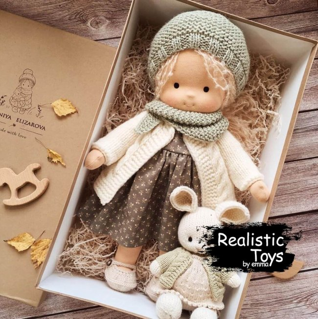 Cute Doll Alivia , Soft Doll With Clothes , Dolls For Toddlers