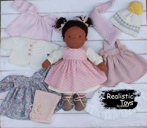 Waldorf Doll Alma With Clothes, Christmas Gift Ideas , Dolls For Toddlers