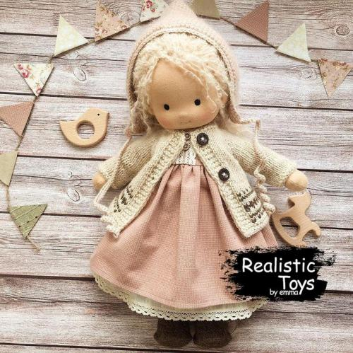 Emma Realistic Toys - Waldorf Doll Camille