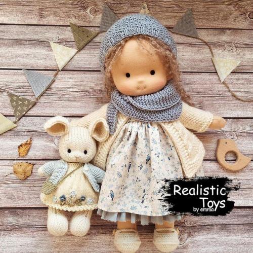 Emma Realistic Toys - Waldorf Doll  Anna