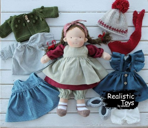 Waldorf Doll Astrid , Christmas Gifts For Girls , Eco - friendly Toy