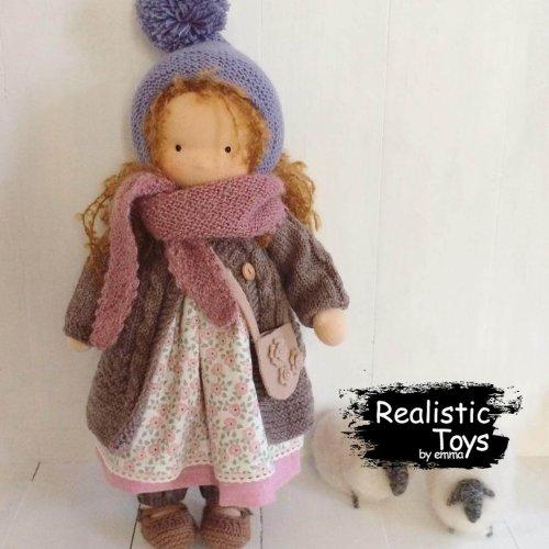 Cute Doll Mariah, Handmade Cute Doll With Big Set Of Clothes