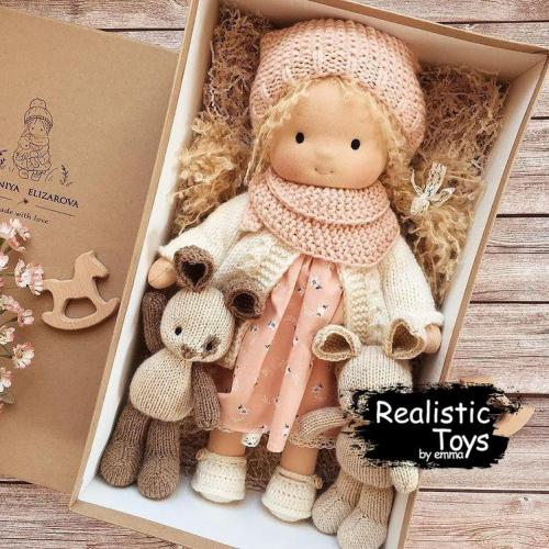 Waldorf Doll Crystal , Gifts For Little Girls, Soft Doll, Cuddle doll, Cloth Doll