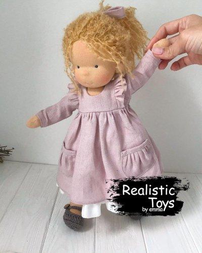 Waldorf Doll Jocelyn , Soft Dolls With Clothes , Organic Baby Dolls