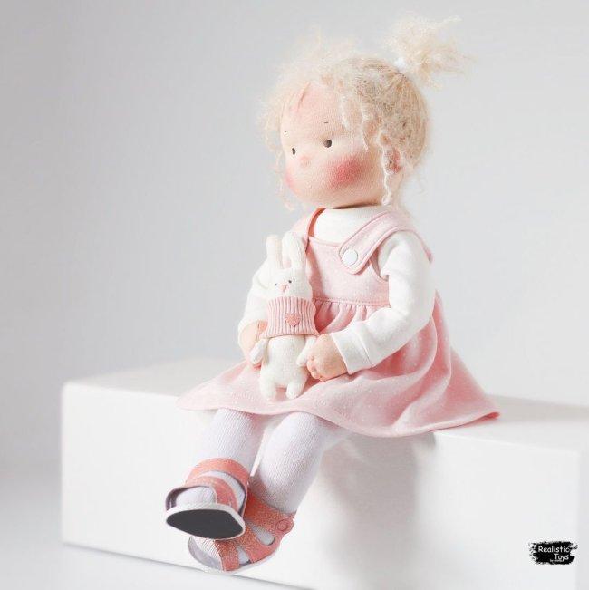 Cute Doll Mavis , Soft Baby Dolls With Hair