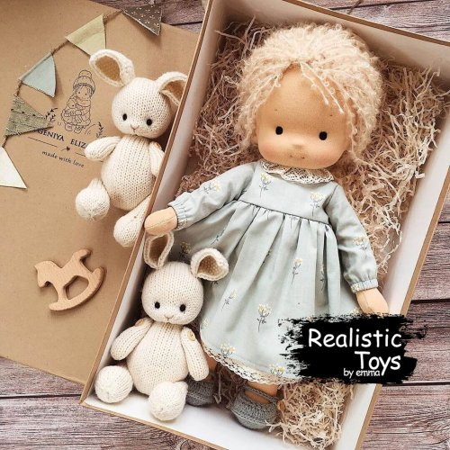 Waldorf Doll Rosalie, Stuffed Dolls For Babies