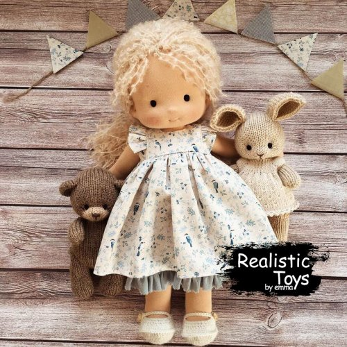 Waldorf Doll Sienna , Doll With Matching Clothes For Girl