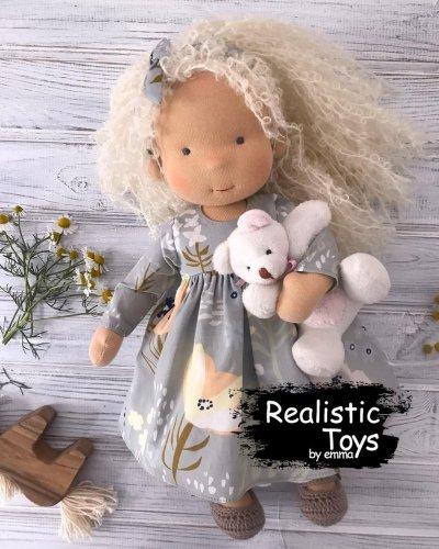 Emma Realistic Toys - Waldorf Doll  Nathaly
