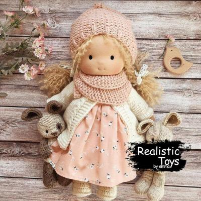 Waldorf Doll Crystal , Gifts For Little Girls, Soft Doll, Cuddle doll, Cloth Doll