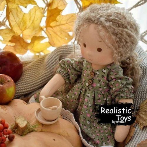 Emma Realistic Toys - Waldorf Doll  Makayla