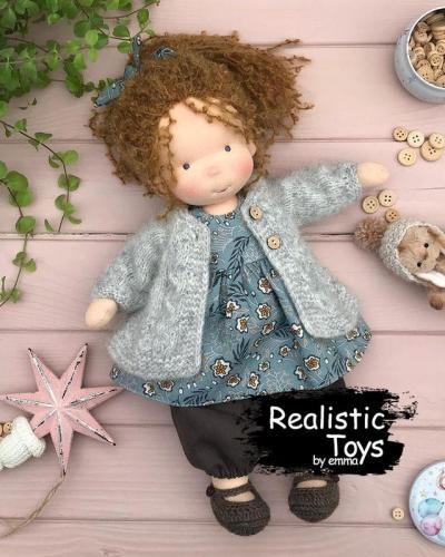 Emma Realistic Toys - Waldorf Doll Caltha