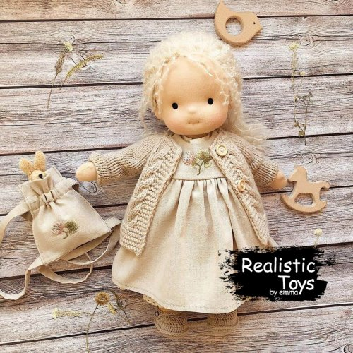 Waldorf Doll Adelynn,Soft Dolls For Infants