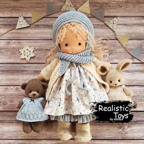 Emma Realistic Toys - Waldorf Doll Adriana