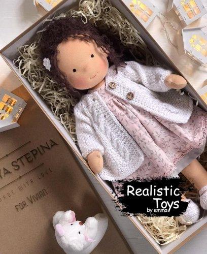 Cute Doll Sara , Handmade Rag Dolls , Organic Dolls For Toddlers