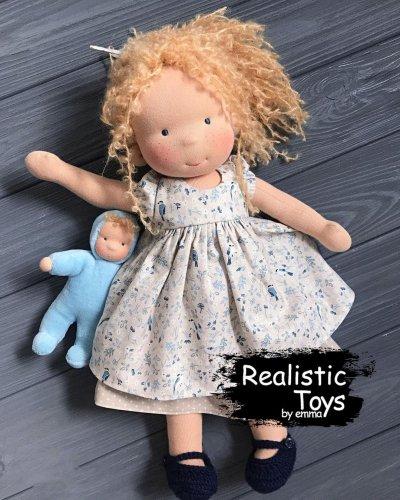 Emma Realistic Toys - Waldorf Doll Maryjane