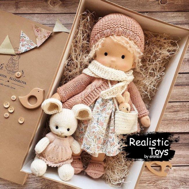 Emma Realistic Toys - Waldorf Doll  Savannah