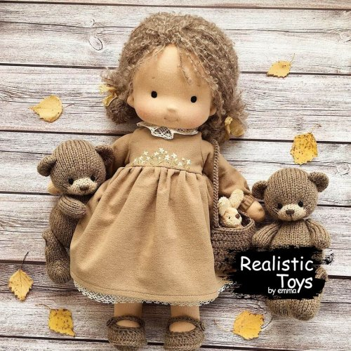 Waldorf Cuddle Doll Selena , Christmas Gift Ideas , Soft Bodied Baby Doll