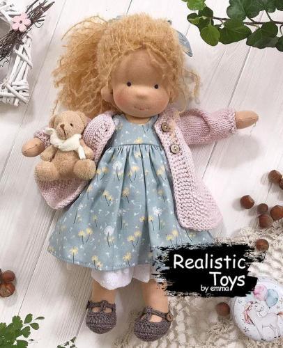 Emma Realistic Toys - Waldorf Doll Sarah