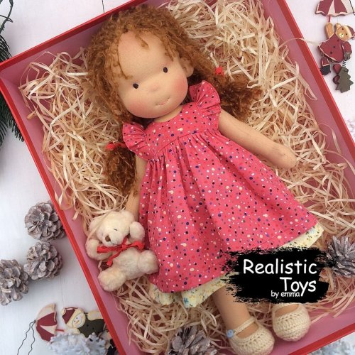 Cute Doll Andrea, Toys For Kids , Jointed Cloth Doll , Sweet Little Girl Cute Doll