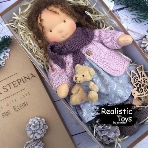 Waldorf Doll Gabrielle , Kids Christmas Gifts , Hand made Rag Doll