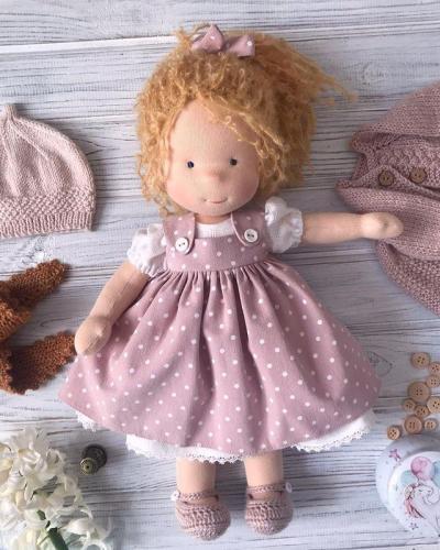 Emma Realistic Toys - Waldorf Doll Blanche