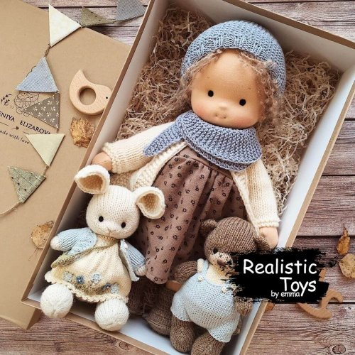 Waldorf Doll Alivia , Soft Doll With Clothes , Dolls For Toddlers
