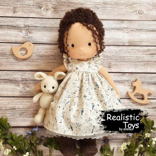 Waldorf Doll Melissa , Waldorf Inspired Dolls , Handmade Dolls With Big Set Of Clothes