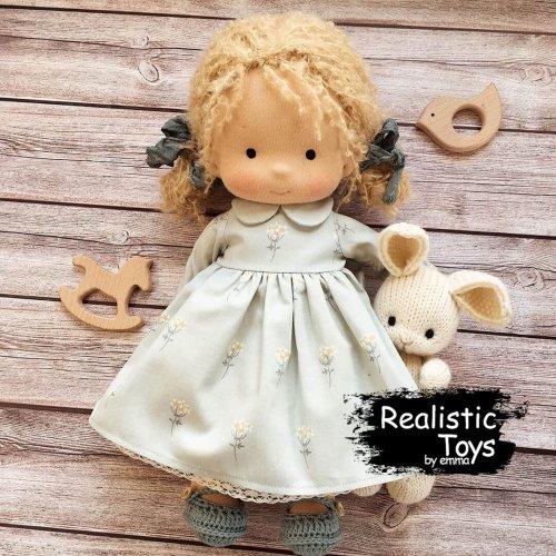 Waldorf Doll Tessa, Soft Toys For Baby , Organic Waldorf Baby Doll
