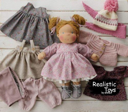Handmade Soft Waldorf Doll Alice , 2020 Kid Christmas Gifts , Natural Fiber Baby