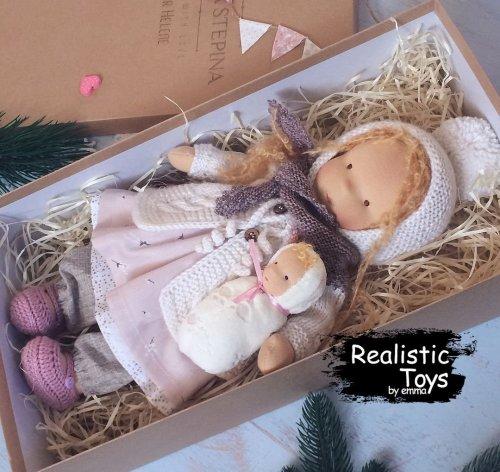 Cute Doll Anastasia , Christmas Gifts For Kids , Waldorfpuppe