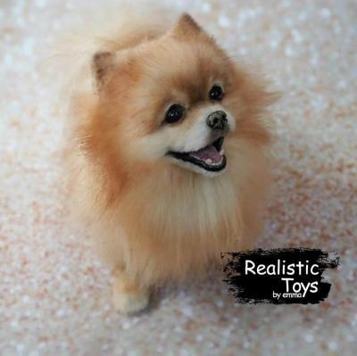 Emma Realistic Toys - Realistic Pomeranian Puppy Shadow
