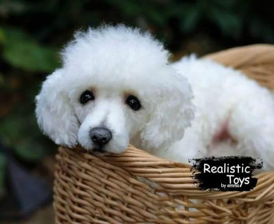 Emma Realistic Toys - Realistic & Lifelike Poodle Dog Frankie