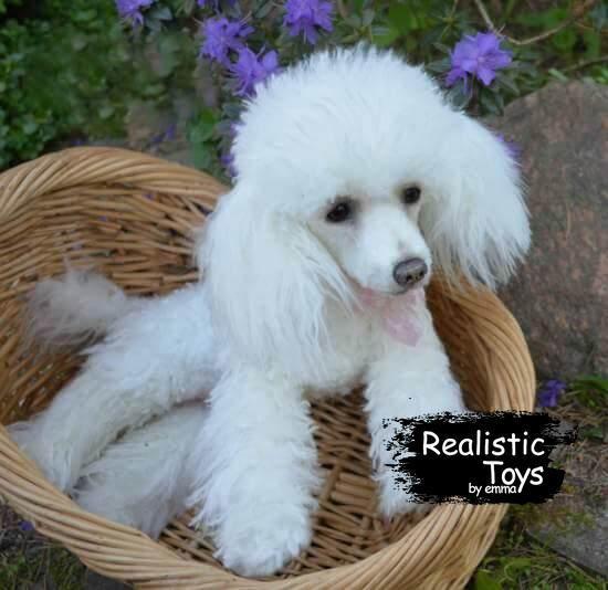 Emma Realistic Toys - Realistic & Lifelike Poodle Dog Simon