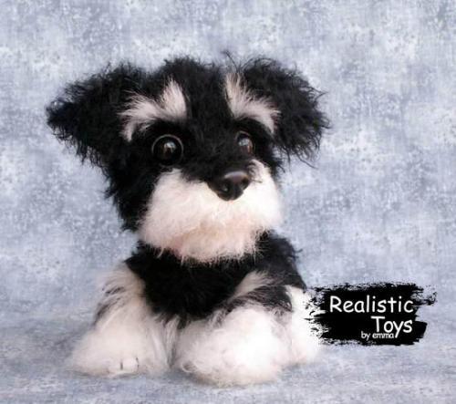 Emma Realistic Toys - Schnauzer Dog Alex