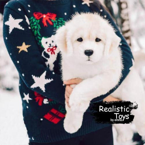 Emma Realistic Toys - Realistic Labrador Retriever Puppy Stella , Realistic Stuffed Animal ,Realistic & Lifelike Dog