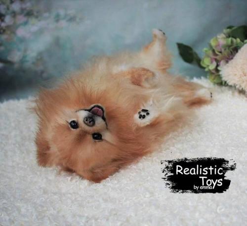 Emma Realistic Toys - Realistic Pomeranian Puppy Jack