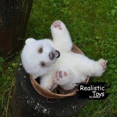 Emma Realistic Toys - Realistic & Lifelike Little Bear Daenerys