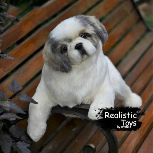 Emma Realistic Toys - Realistic Pekingese Puppy Charlie