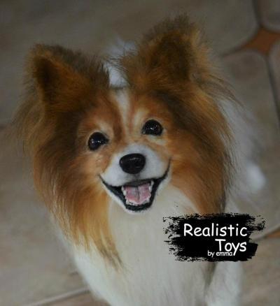 Emma Realistic Toys - Realistic Papillon Puppy Lola