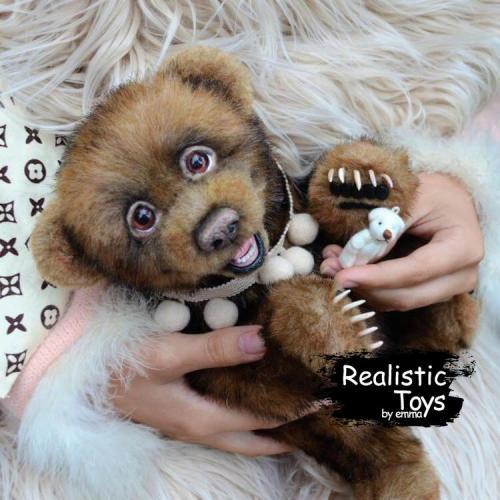 Emma Realistic Toys - Realistic & Lifelike Little Bear Boots
