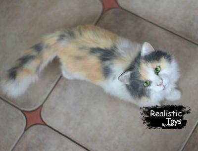 Emma Realistic Toys - Realistic & Lifelike Calico Cat Milo