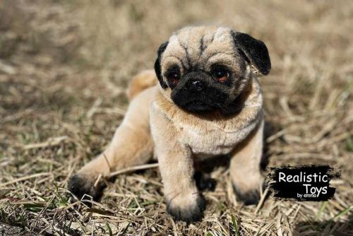 Emma Realistic Toys - Realistic Pug Puppy Beethoven