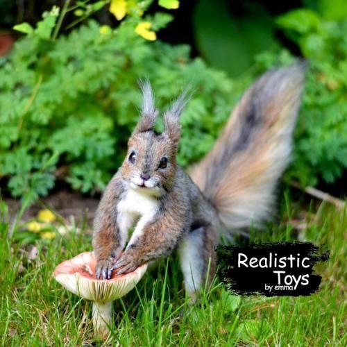 Emma Realistic Toys - Realistic & Lifelike Squirrel Sadie