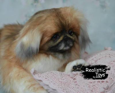 Emma Realistic Toys - Realistic Pekingese Puppy Molly