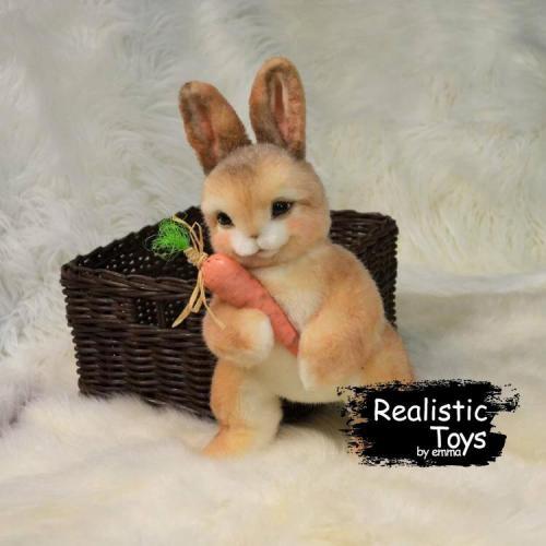 Emma Realistic Toys - Realistic & Lifelike Rabbit Garfield , Easter Bunny