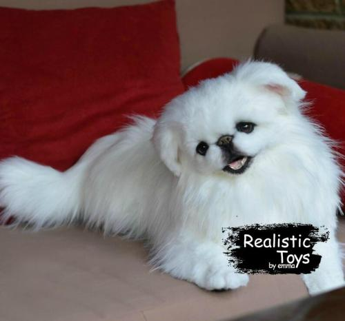 Emma Realistic Toys - Realistic Pekingese Puppy Coco