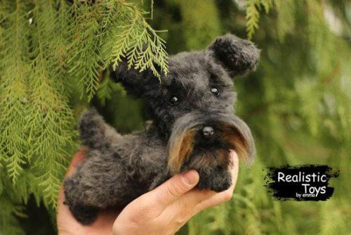 Emma Realistic Toys - Schnauzer Dog Karl