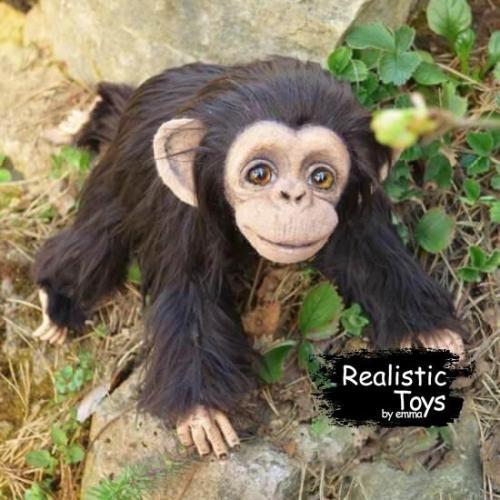 Emma Realistic Toys - Realistic Small Chimpanzee Princess