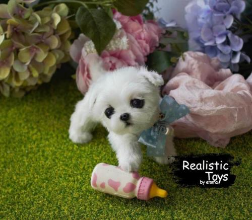 Emma Realistic Toys - Realistic & Lifelike Maltese Puppy Callie