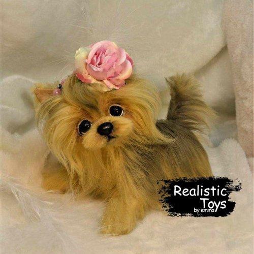 Emma Realistic Toys - Yorkie Dog BooBoo